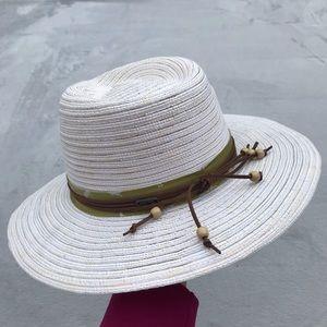 Pistil Sun Hat with green zebra sash